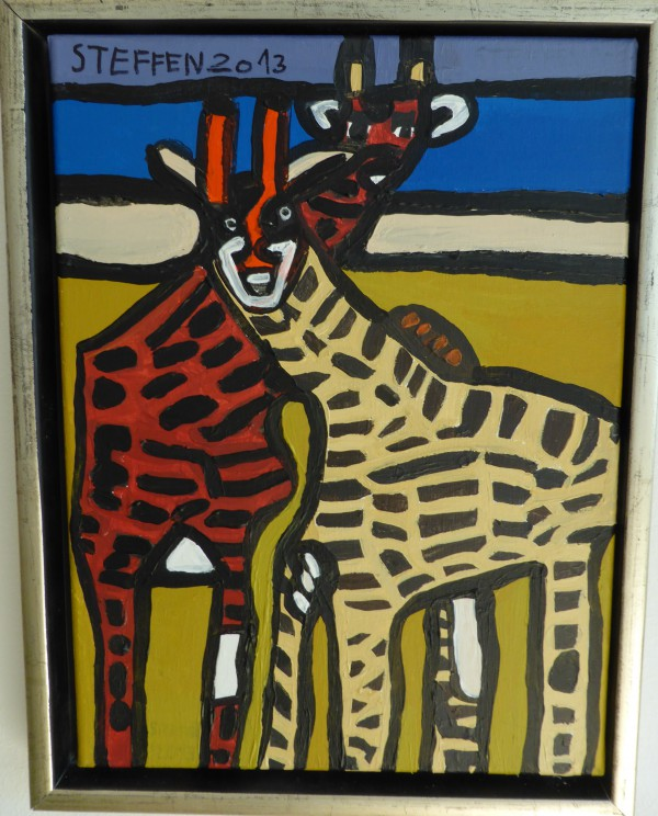14. Giraffer. 30x40 cm 200,-
