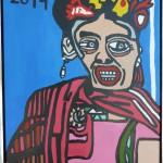 18. Frida Kahlo. 60x80 cm 1000,-